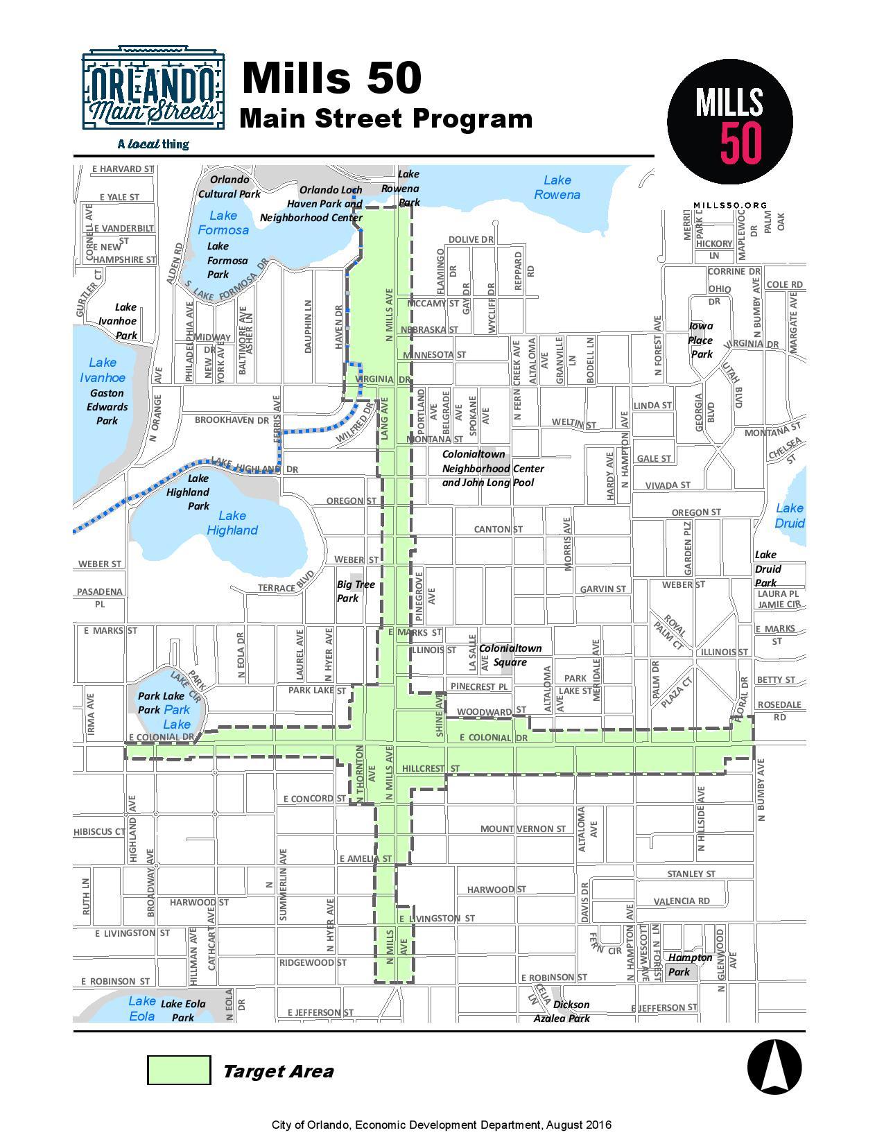 Mills 50 Boundaries Map