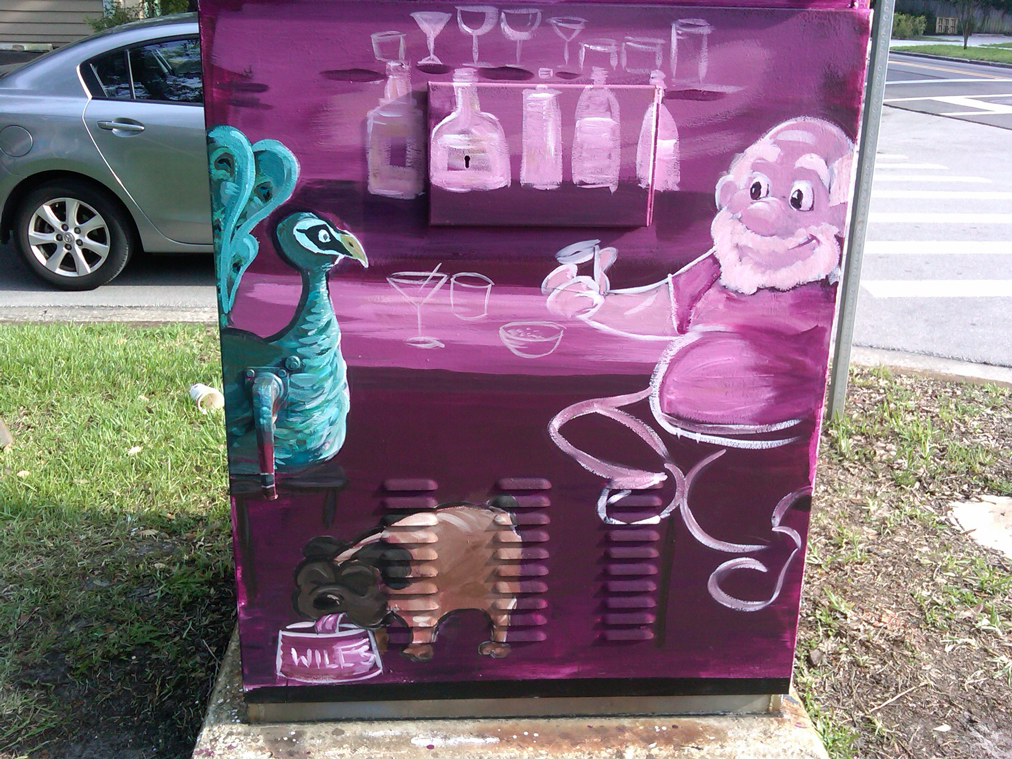 Artist: Emily Gallagher.   Location: Amelia Street & Ferncreek Avenue