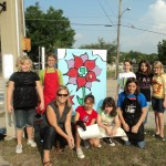 Artist: Hillcrest Elementary Students.   Location: Mills Avenue & Mt. Vernon Street. Replaced with new cabinet.