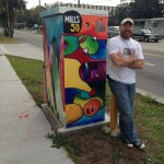 Artist: Lee Vandergrift. Location: Colonial & Fern Creek.