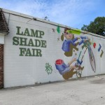 Artist: Sebastian Coolidge.  Location: Lamp Shade Fair, 1336 N. Mills.