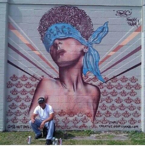 Artist: Ric Sosa.  Location: Pho 88, 730 N. Mills.