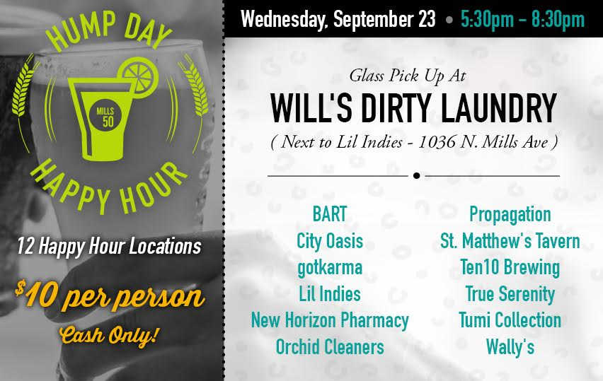 Hump Day Happy Hour flyer