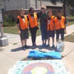 Artist:  Mary Beth Perkins and Fern Creek Elementary students.  Location:  Fern Creek & Oregon.