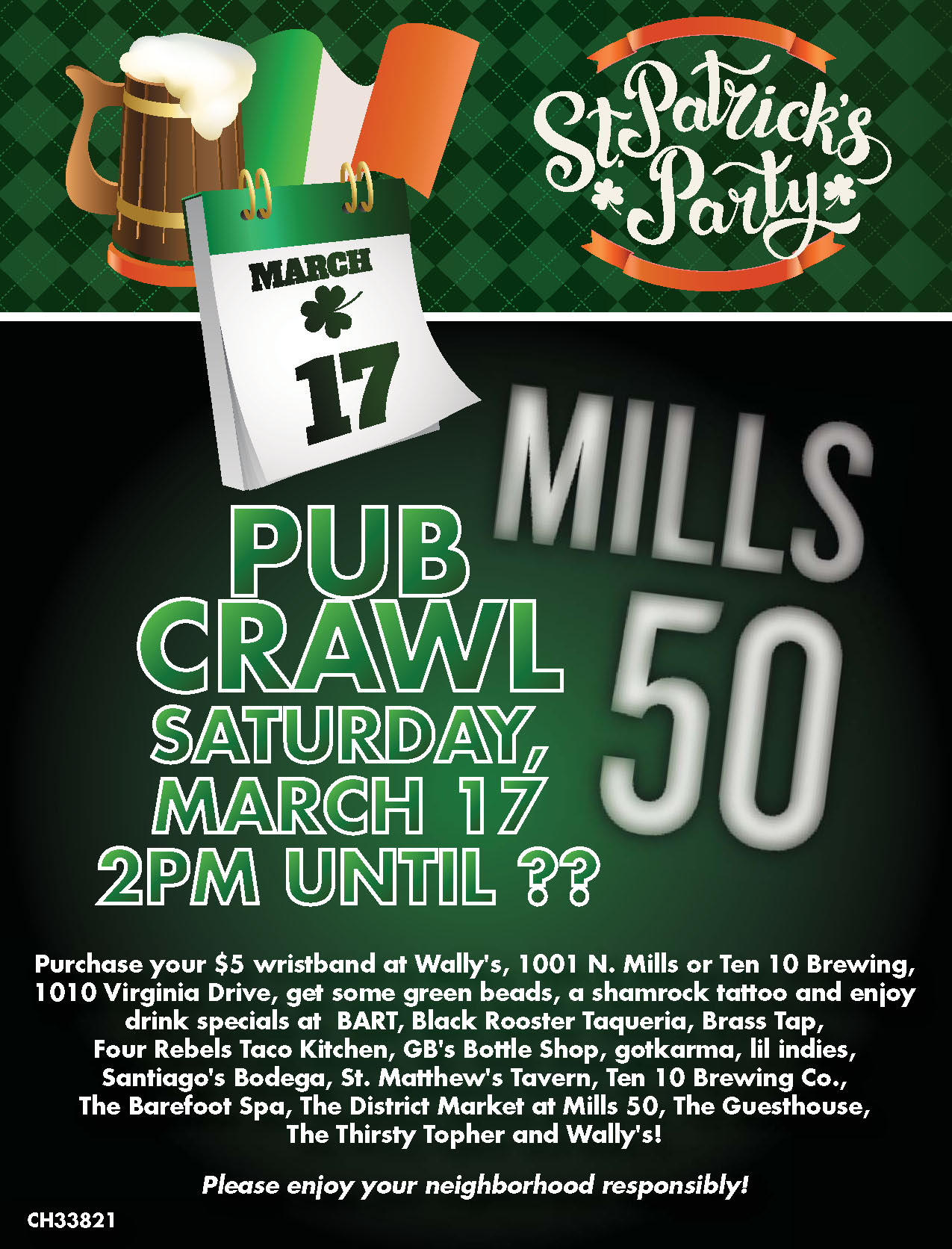 St Patrick's Day Pub Crawl revised